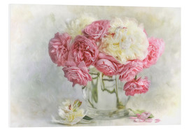 PVC print  roses and peonies - Lizzy Pe