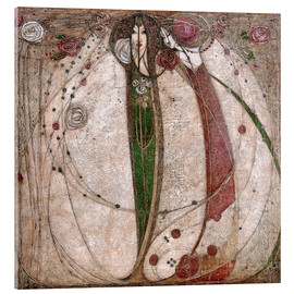 Acrylglas print  The White Rose And The Red Rose - Margaret MacDonald Mackintosh