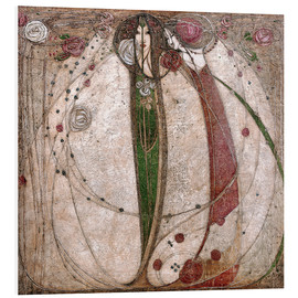 PVC print  The White Rose And The Red Rose - Margaret MacDonald Mackintosh