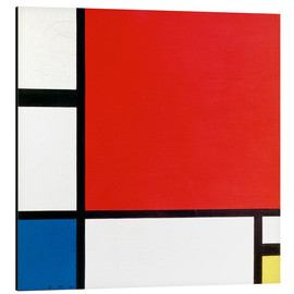 Aluminium print  Composition with Red, Yellow and Blue - Piet Mondrian