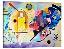 Canvas print  Geel, rood, blauw - Wassily Kandinsky