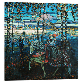 Acrylglas print  Couple on a horse - Wassily Kandinsky