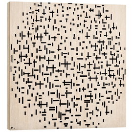 Hout print  Composition with lines - Piet Mondriaan