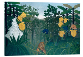 Acrylglas print  The meal of the lion - Henri Rousseau