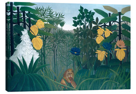 Canvas print  The meal of the lion - Henri Rousseau
