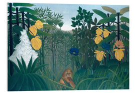 PVC print  The meal of the lion - Henri Rousseau