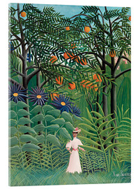 Acrylglas print  Woman Walking in an Exotic Forest - Henri Rousseau