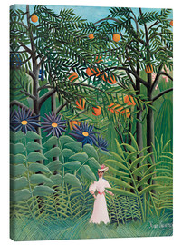 Canvas print  Woman Walking in an Exotic Forest - Henri Rousseau