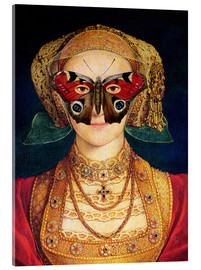 Acrylglas print  The butterfly mask (by Hans Holbein)