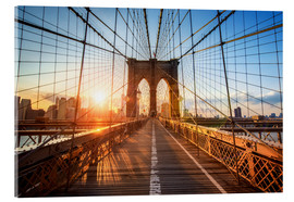 Acrylglas print  Brooklyn Bridge at sunrise, New York - Jan Christopher Becke