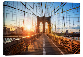 Canvas print  Brooklyn Bridge at sunrise, New York - Jan Christopher Becke