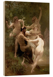 Hout print  Nymphs and Satyr - William Adolphe Bouguereau
