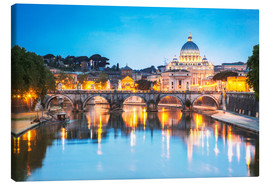 Canvas print  St. Peter and Tiber, Rome - Matteo Colombo