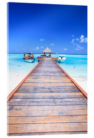 Acrylglas print  Pier into the ocean, Maldives - Matteo Colombo