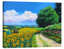 Canvas print  Sunflowers season - Jean-Marc Janiaczyk