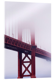 Acrylglas print  Golden Gate Bridge in the fog - Jean Brooks