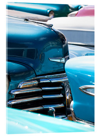 Acrylglas print  Vintage American cars parked on a street in Havana Centro, Havana, Cuba, West Indies, Central Americ - Lee Frost