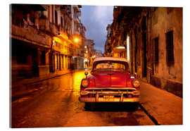 Acrylglas print  Red vintage American car in Havana - Lee Frost