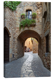 Canvas print  Alley in Pals, Catalonia - Stuart Black