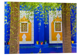 PVC print  Windows in the Majorelle Gardens - Matthew Williams-Ellis