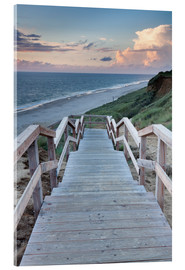 Acrylglas print  Stairs down to the beach, Sylt - Markus Lange