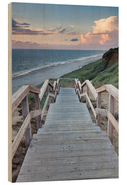 Hout print  Stairs down to the beach, Sylt - Markus Lange