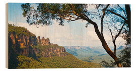 Hout print  Panoramic photo of the Three Sisters - Matthew Williams-Ellis