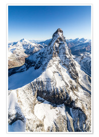 Premium poster  The unique shape of the Matterhorn - Roberto Sysa Moiola