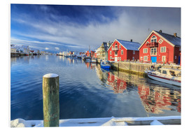 PVC print  colorful fisherman houses in Norway - Roberto Sysa Moiola