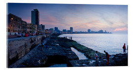 Acrylglas print  The Malecon, Havana, Cuba, West Indies, Central America
