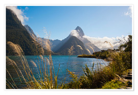 Premium poster  Mitre Peak, Milford Sound - Matthew Williams-Ellis