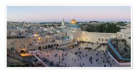 Premium poster  Jerusalem with Wailing Wall - Gavin Hellier