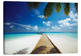 Canvas print  Wooden jetty out to tropical sea - Sakis Papadopoulos