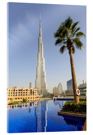 Acrylglas print  Pool and Burj Khalifa - Amanda Hall