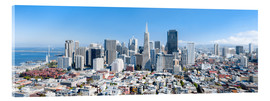 Acrylglas print  San Francisco skyline in summer - Jan Christopher Becke