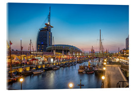Acrylglas print  Sail 2015 Klimahaus - Havenwelten Bremerhaven at night - Rainer Ganske