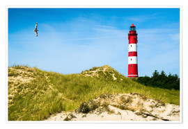 Premium poster Amrum Lighthouse