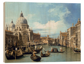Hout print  The Entrance to the Grand Canal, Venice - Bernardo Bellotto (Canaletto)