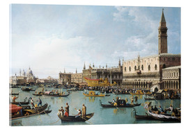 Acrylglas print  The harbour of San Marco on Ascension Day - Bernardo Bellotto (Canaletto)