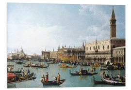 PVC print  The harbour of San Marco on Ascension Day - Bernardo Bellotto (Canaletto)