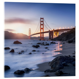 Acrylglas print  San Francisco Golden Gate Bridge - Jan Christopher Becke
