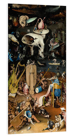 PVC print  Garden of earthly delights, Hell - Hieronymus Bosch