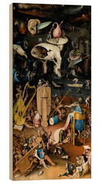 Hout print  Garden of earthly delights, Hell - Hieronymus Bosch