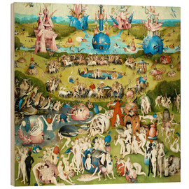 Hout print  The Garden of Earthly Delights - Hieronymus Bosch