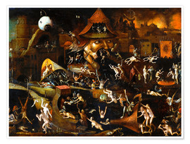 Premium poster  The harrowing of hell - Hieronymus Bosch