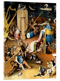 Acrylglas print  Garden of Earthly Delights, Hell (detail) - Hieronymus Bosch