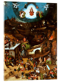 Acrylglas print  The Last Judgement, midsection - Hieronymus Bosch