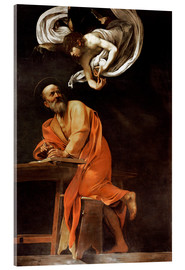 Acrylglas print  The inspiration of St Matthew - Michelangelo Merisi (Caravaggio)