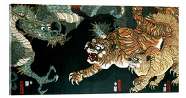 Acrylglas print  A dragon and two tigers - Utagawa Sadahide