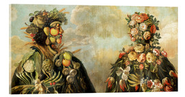 Acrylglas print  A anthropomorphosic profile of a man and a woman - Giuseppe Arcimboldo